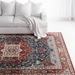 Ralph Lauren Power Loomed Lrl1225a Red - Navy Area Rug - 200510