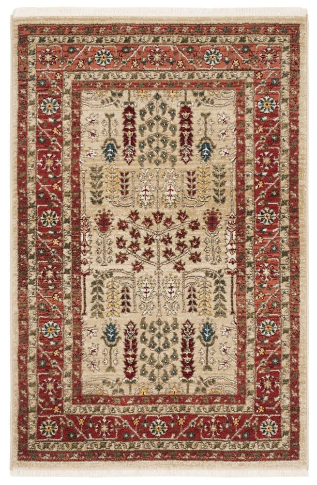 Ralph Lauren Power Loomed Lrl1297c Red - Beige Area Rug - 200515