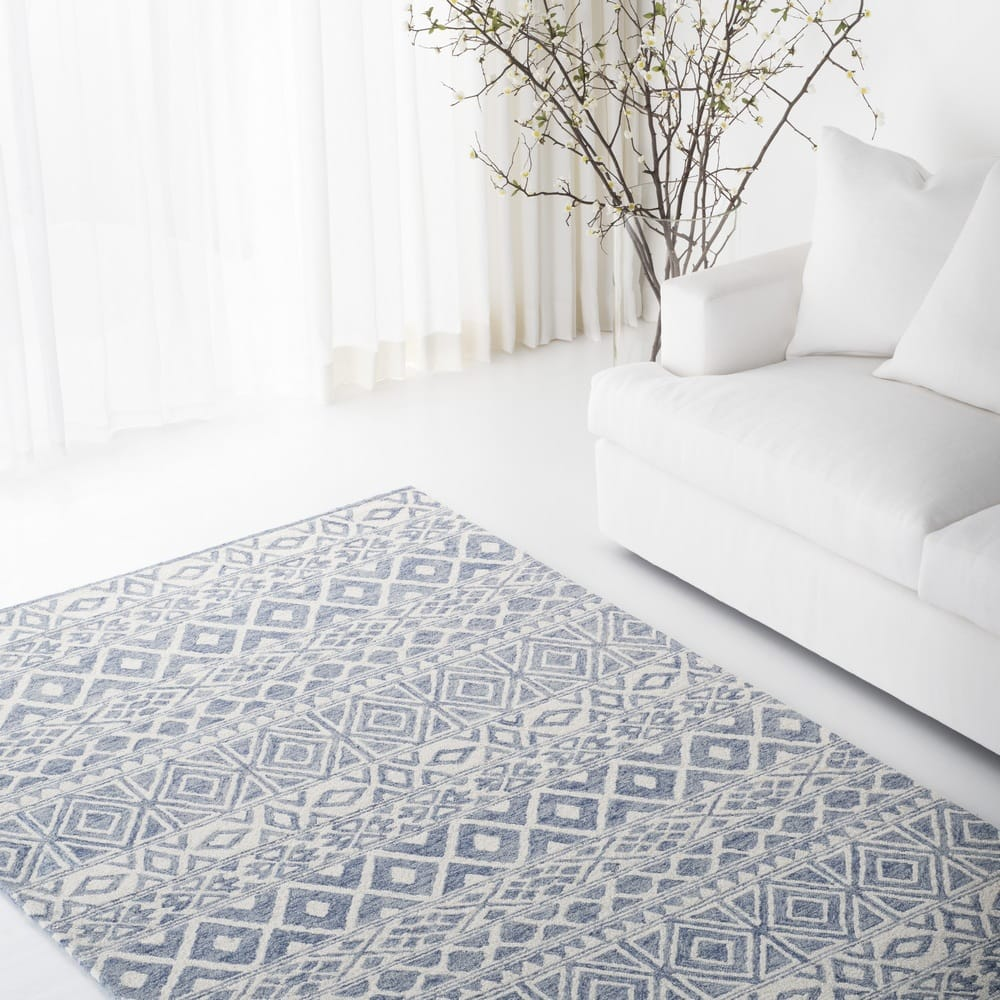 Ralph Lauren Hand Tufted Lrl6650a Ivory - Blue Area Rug - 200566