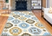 Ramerian Pietra 5700-PAZ Yellow-Blue Area Rug - 195274