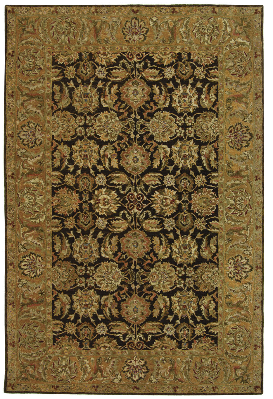Safavieh Anatolia AN615B Dark Brown - Gold Area Rug