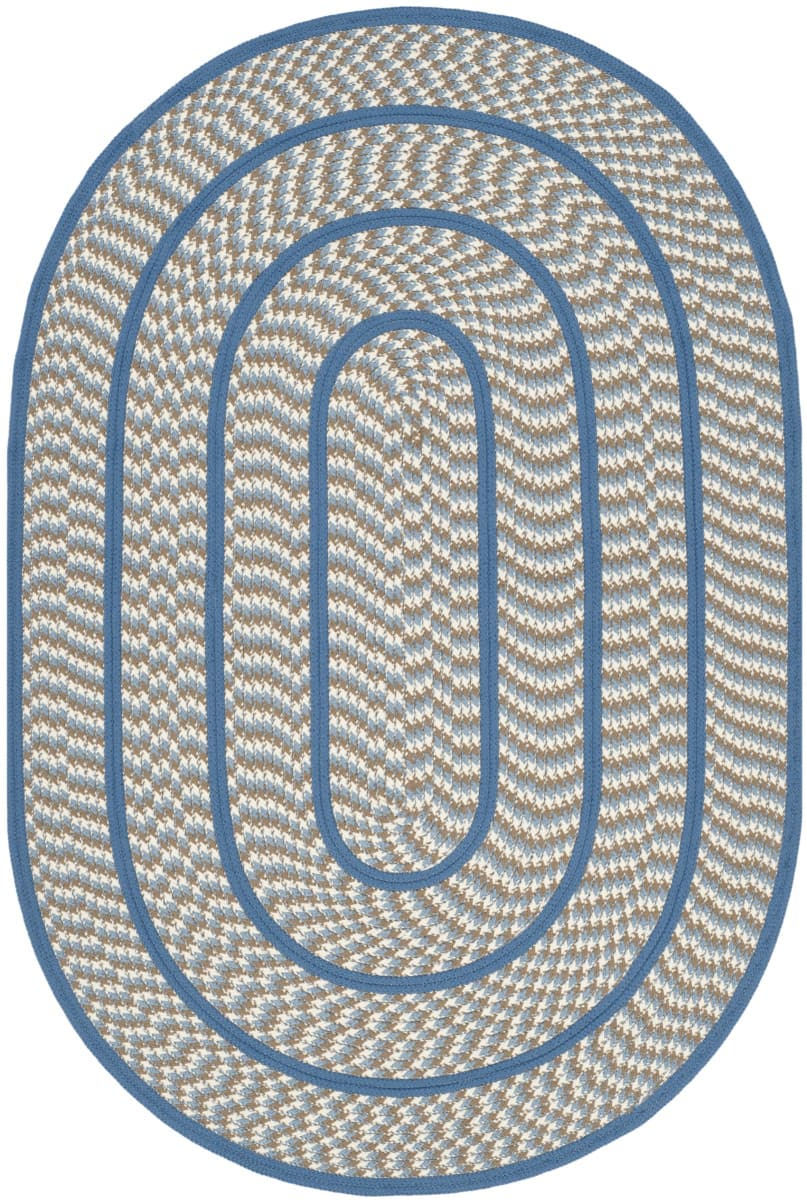 Safavieh Braided Brd401a Ivory - Blue