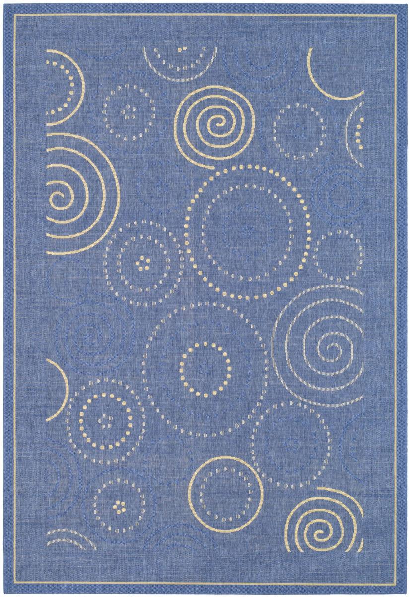 Safavieh Courtyard Cy1906 3103 Blue Natural Rug Studio