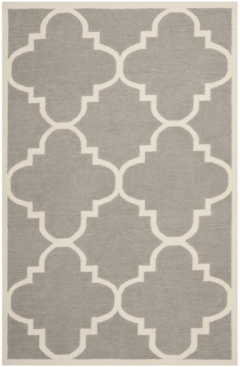 Safavieh Dhurries Dhu633b Grey Ivory Rug Studio