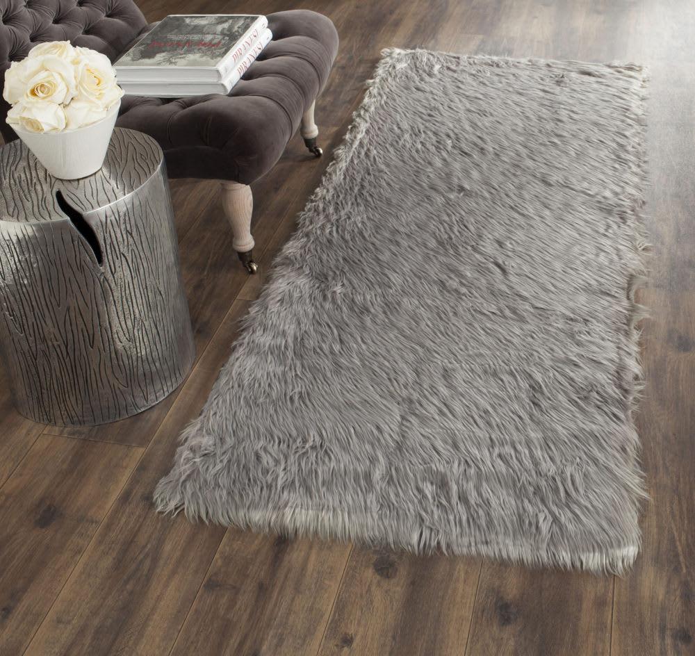Safavieh Faux Sheep Skin Fss235d Grey Area Rug 143343