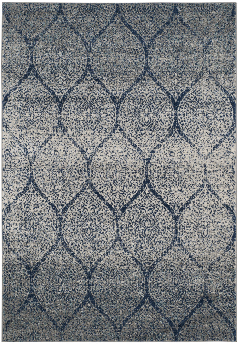 Safavieh Madison Mad604g Navy - Silver Area Rug - 166392