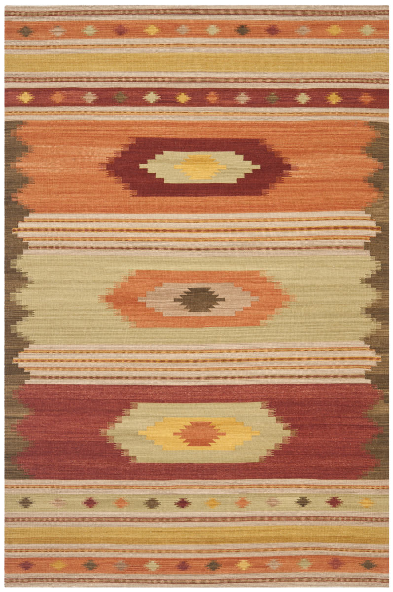 Safavieh Kilim NVK176A Brown - Multi