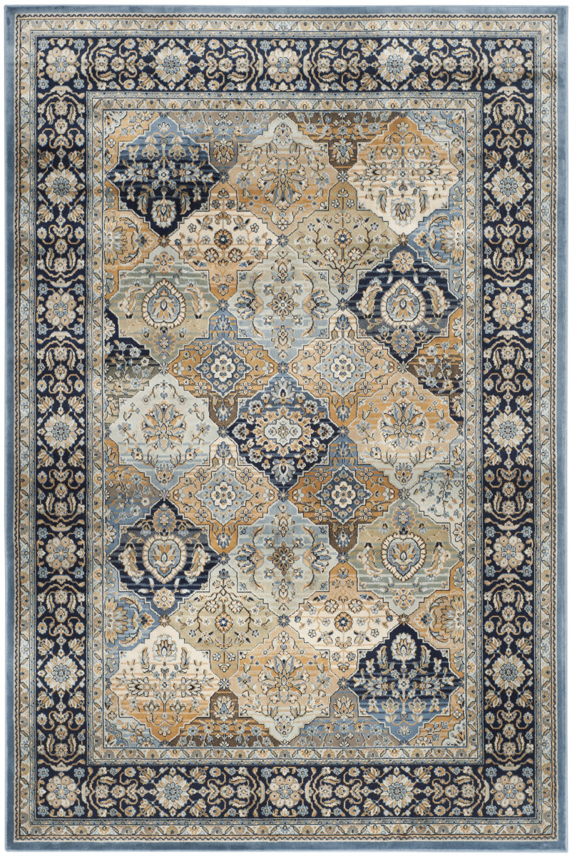 Kas Auto Sales >> Safavieh Persian Garden Peg609n Multi - Navy Area Rug #143569