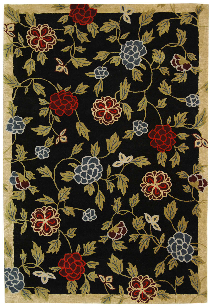 Safavieh Soho Soh428a Black - Multi Area Rug