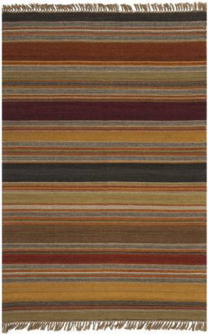 Safavieh Striped Kilim STK315A Gold
