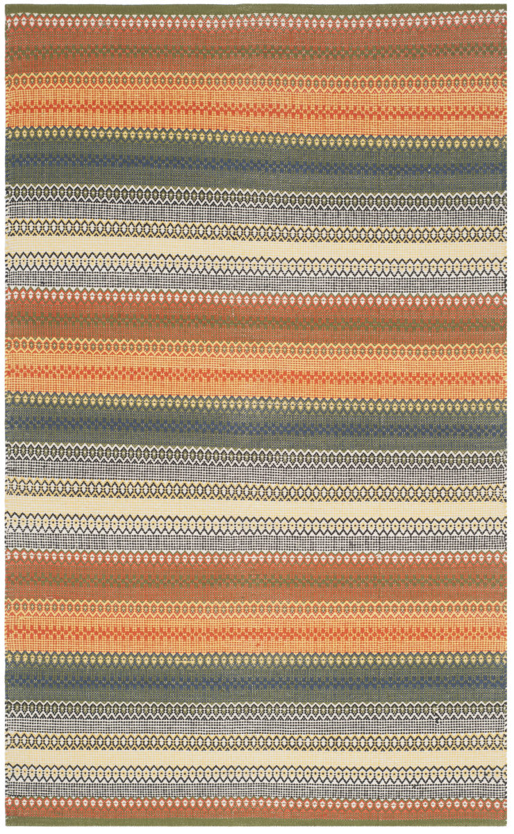 Safavieh Striped Kilim Stk412a Gold - Grey