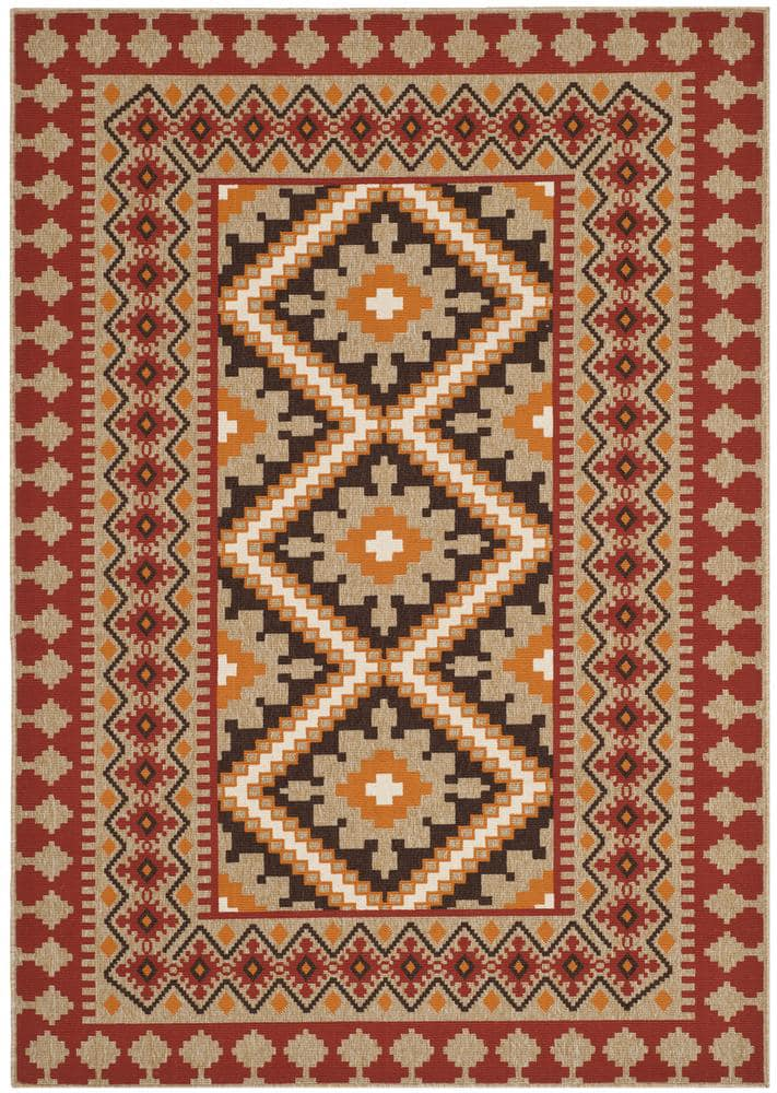 Safavieh Veranda VER099-0334 Red - Natural