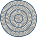 Safavieh Braided Brd401a Ivory - Blue Area Rug - 111914