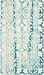 Rugstudio Sample Sale 155184R Ivory - Turquoise Area Rug Last Chance - 155184R