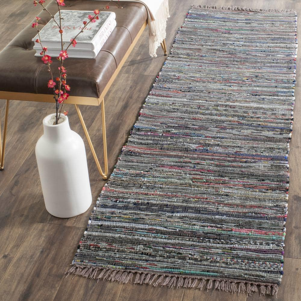 Safavieh Rag Rug Rar121e Rust - Multi Area Rug - 112175