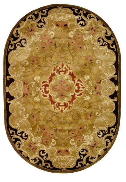 Rugstudio Sample Sale 49683R Gold - Cola Area Rug Last Chance - 49683R