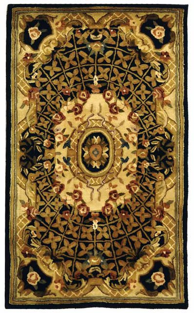 Safavieh Classic CL304A Black - Gold Area Rug Clearance - 49705