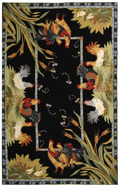 Safavieh Chelsea HK56B Black Area Rug Clearance - 46447