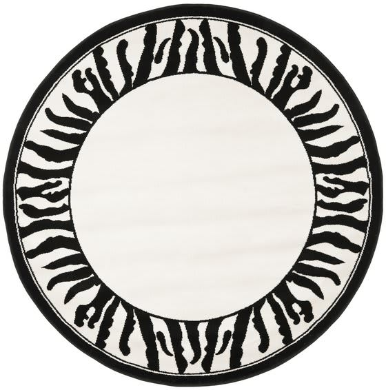 Safavieh Lyndhurst LNH227A White - Black Area Rug Clearance - 46823