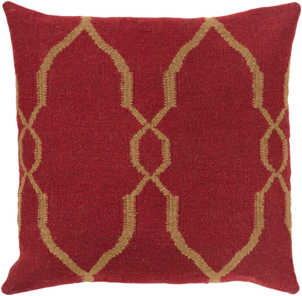 Surya Pillows FA-019 Burgundy-Tan