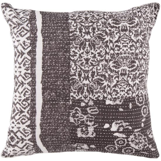Surya Pillows HSK-119 Charcoal-Ivory