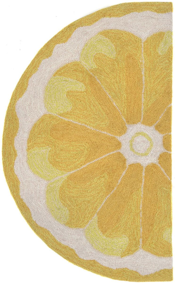 Trans-Ocean Frontporch Lemon Slice 1556/09 Yellow