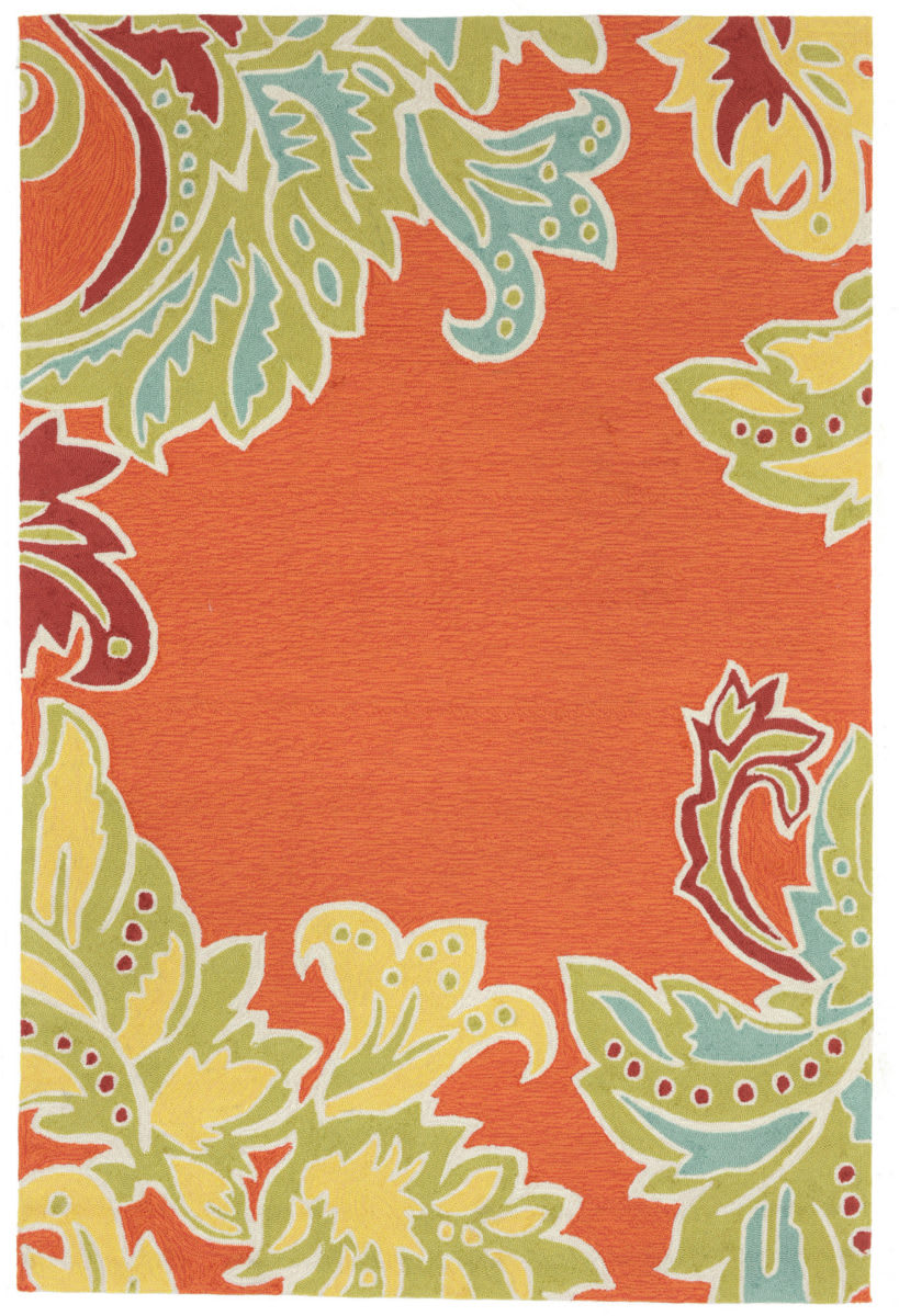 Trans-Ocean Ravella Ornamental Leaf Border 1947/17 Orange