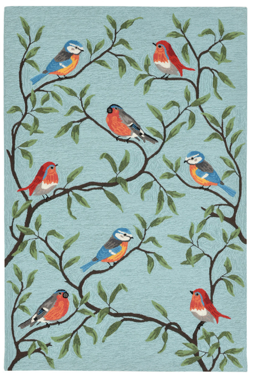 Trans-Ocean Ravella Birds On Branches 2270/04 Aqua