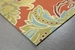 Trans-Ocean Ravella Ornamental Leaf Border 194717 Orange Area Rug - 190076