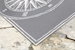Trans-Ocean Frontporch Compass 144747 Grey Area Rug - 189760