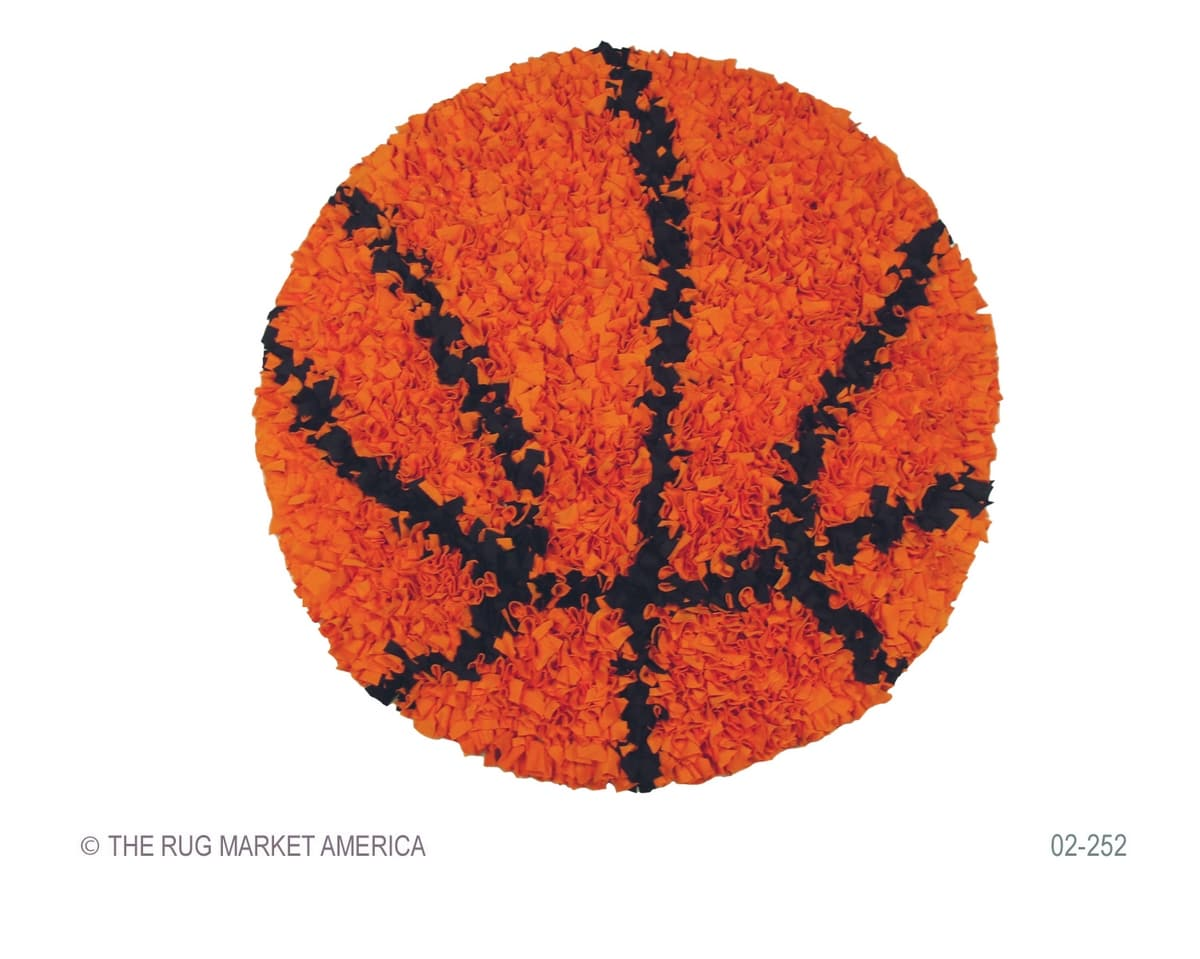 The Rug Market America Kids Shaggy Raggy Basketball 02252