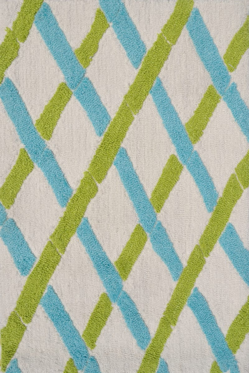 The Rug Market America Pop Accents Bamboo Green White Blue