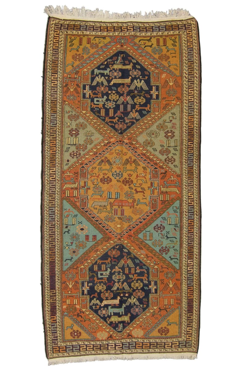Tufenkian Knotted Armenian Soumakh Brown