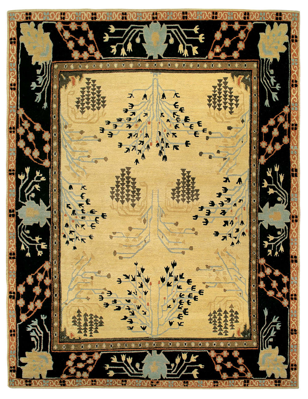 Tufenkian Setana Donegal Branches Almond Area Rug Clearance