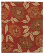 Tufenkian Kotana Flower Power Cinnamon Stick Area Rug Clearance