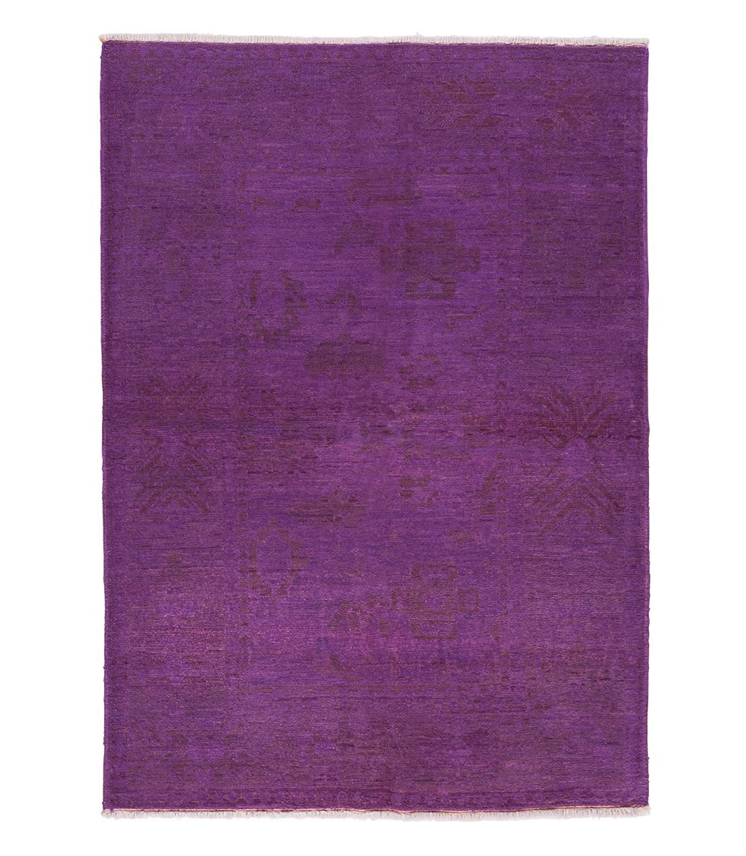 Tufenkian Knotted Gharni Purple Overdyed Sheared