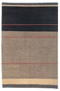 Tufenkian Kotana Loop Stripe Peppercorn Area Rug