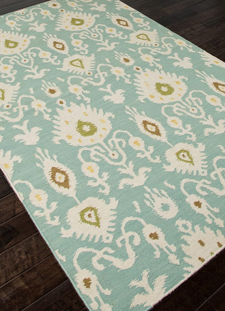 Addison And Banks Flat Weave Abr0492 Cool Aqua Rug Studio